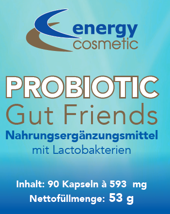 Energy Cosmetic Probiotic Gut Friends, 90 Kapseln